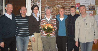 Der Vorstand: Carsten Frantzheld, Jens Krause, Nicole Bannehr, Ingrid Schlüter, Dorina Frantzheld, Siggi Appelt und Viktor Trautmann